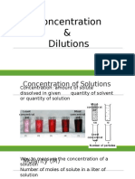 z concentration dilution
