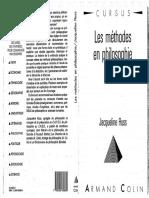 Jacqueline Russ - Les méthodes en philosophie.pdf