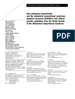 Intra-Abdominal Hypertension and the Abdominal Compartment Syndrome- Updated Consensus Definitions and Clinical Practice Guidelines From the World Society of the Abdominal Compartment Syndrome