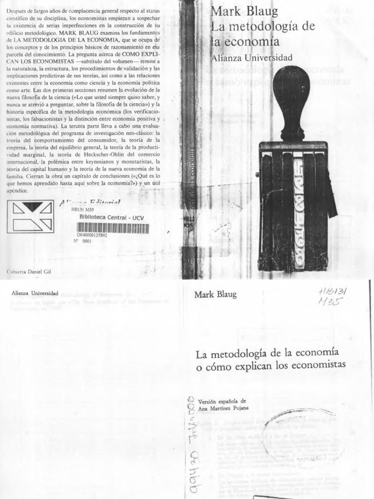 METODOLOGÍA DE LA ECONOMÍA-MARK BLAUG