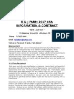 CSA Contract 2017