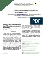 Dimensamiento de Generadores Fotovoltaicos y Mppt