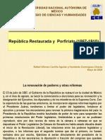 Republica restaurada. Porfirio Díaz