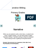 Writing Narrative Primary