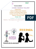 Word Anorexia y Bullimia Equipo 3