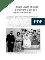 Quiénes Son La Divina Trinidad Del Arte Mexicano