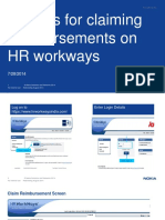 Claiming Reimbursement on HR Workways