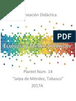 Secuencia Didactica 2017A Ecologia y Medio Ambiente