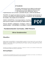 Fundamentos Curriculares