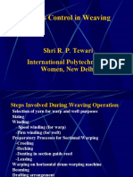 Process Control in Weaving