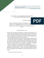 La Idea de La Administración de La Justicia en La Epoca de Juarez, Salvador Cardenas