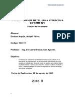 Laboratorio de Metalurgia Extractiva Informe n