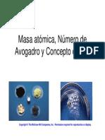 3 Mol MasaMolar MasaAtomicaPromedio Quimica General