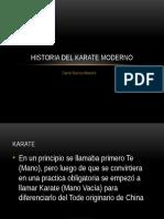 Historia Del Karate Moderno