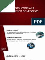 Unidad II. Introducción a La Inteligencia de Negocios