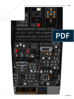 MD80 Cockpit Overhead panel