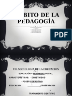 Ámbito de La Pedagogía