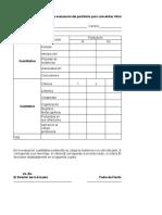 Rúbrica de Evaluación Para Del Portafolio.