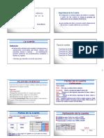 La Cuenta  concepto y partes
