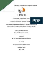 """Determinación de La Actividad Antifúngica in Vitro Del Aceite Esencial de Satureja Nubigena """"Pachachamcua"""" Frente a Sporothrix Schenckii."""