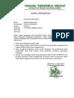 Fakta Integritas Dan Isian Kualifikasi CV. RTH