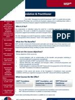 MSP Foundation + Practitioner Outline
