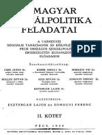 A Magyar Szociálpolitika Feladatai II.