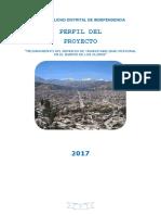 Estudio de Pre Inversión Los Olivos  Huaraz Ancash  Perú