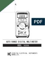 Kyoritsu M 1009 Manual Spanish