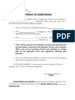 Affidavit of Undertaking Tax