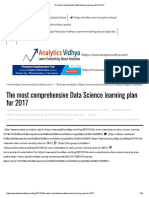 The Most Comprehensive Data Science Learning Plan for 2017