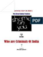 Who are Criminnals Of india?