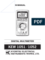 Kew 1051 and 1052 Multimeter