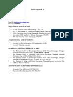 Naveen Kumar Academic Resume