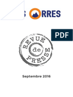 Septembre 2016 // Revue de Presse