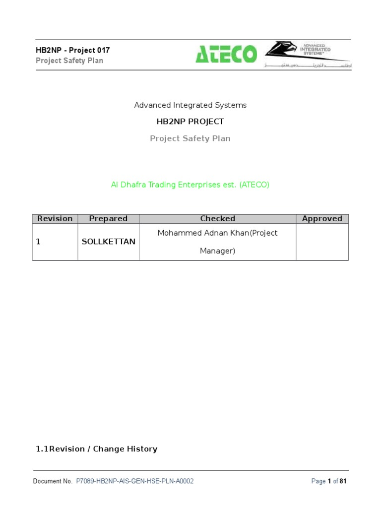 HSE Plan - HB2NP habeeb (new) docx   Occupational Safety And