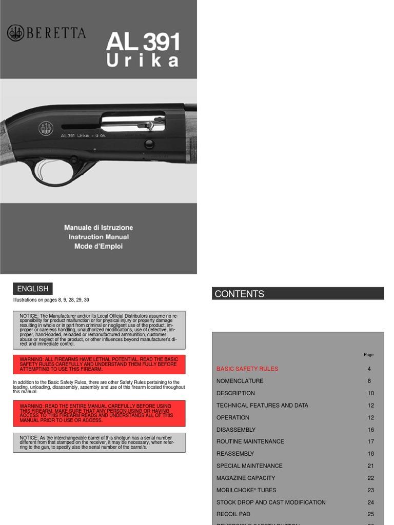 Beretta Al391   Cartridge (Firearms)   Firearms