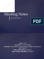 Meeting Notes Week 3