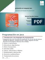 Programación en Lenguaje Java. Tema 1. Introducción a Los Lenguajes de Programación
