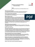 Spectating Athletes - Information Sheet v2