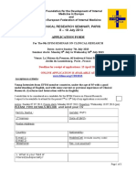Application Form Clin Research Seminar 2013