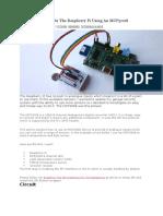 Analogue Sensors on the Raspberry Pi Using an MCP3008