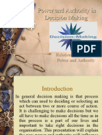 Power and Authority in Decision Making
