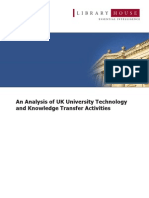 Library House (2007) - An Analysis of UK University Technology and Knowledge Transfer Activities