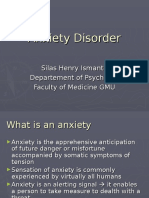 Anxiety Disorder & the Treatment_dr. Silas