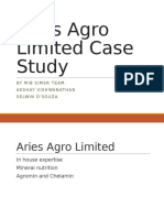 Aries Agro Limited Case Study