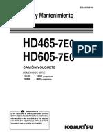 Mantenimiento y Operación HD 465
