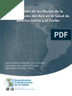 Libro Evaluacion de Los Efectos de La Contaminacion Del Aire en La Salud