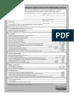Commissioning Checklist