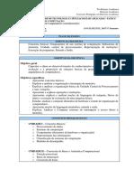 0 Plano de Ensino-Arq Comp I Prof. David Fiorillo
